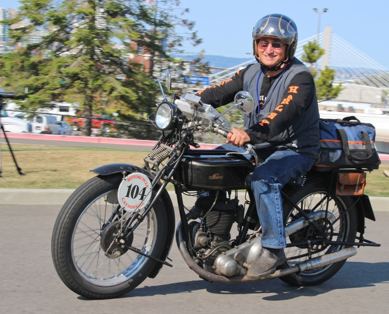 Motorcycle Cannonball Run - over 100 bikes, all pre-1930, riding from coast to coast in a 2-week event.