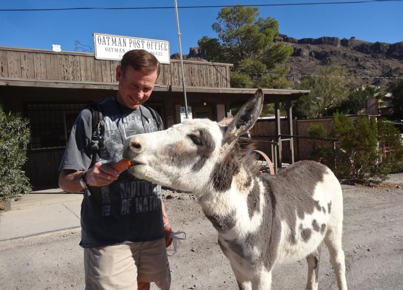 Mike finds a buddy in Oatman.