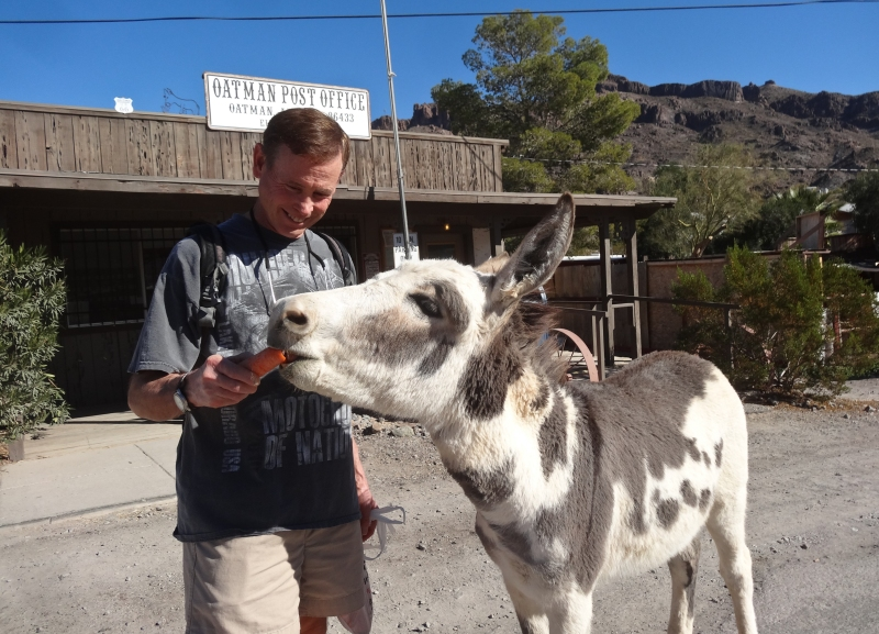 Mike finds a buddy in Oatman.