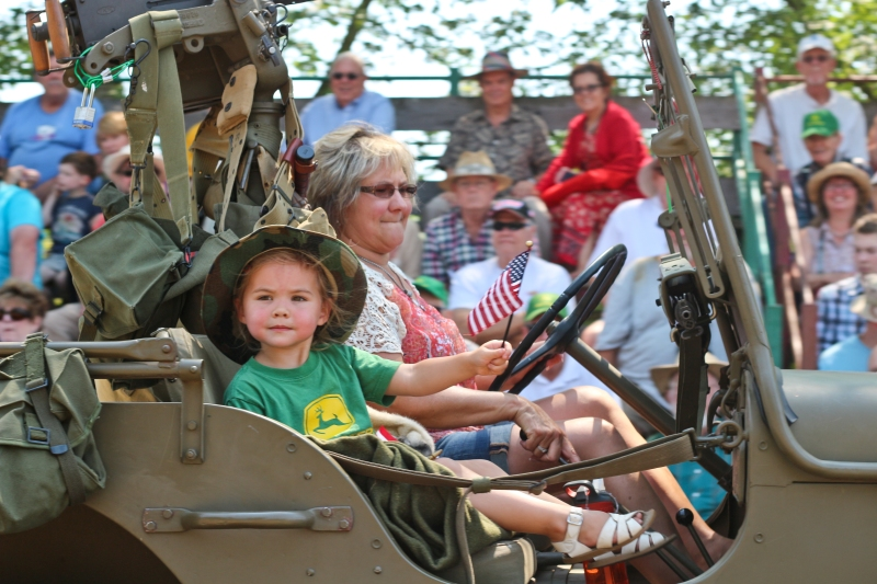 Brooks Steam Up parade - this year's focus was on military vehicles, they had rigs from near-modern back to WWI.