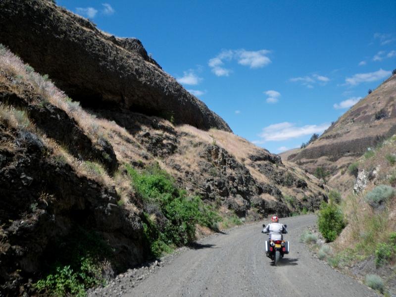 Buttermilk Canyon Road outside of Lonerock