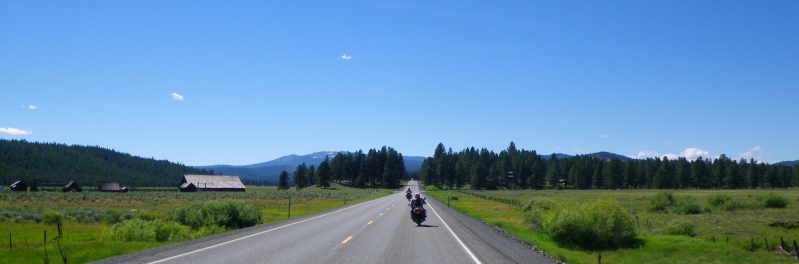 Riding past Whitney on Hwy 7.