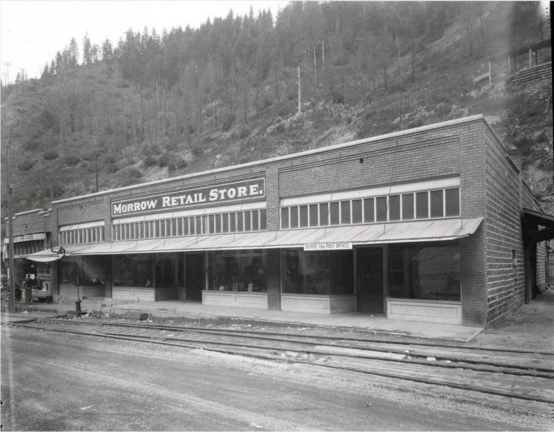 Early photo of one of the building's that's still standing.