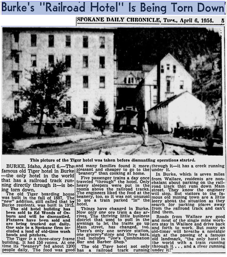 The Tiger Hotel's designation as the only hotel with a train running through it didn't stop the wrecking ball.