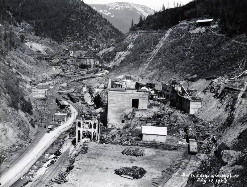 Heckla mine after the 1923 fire.