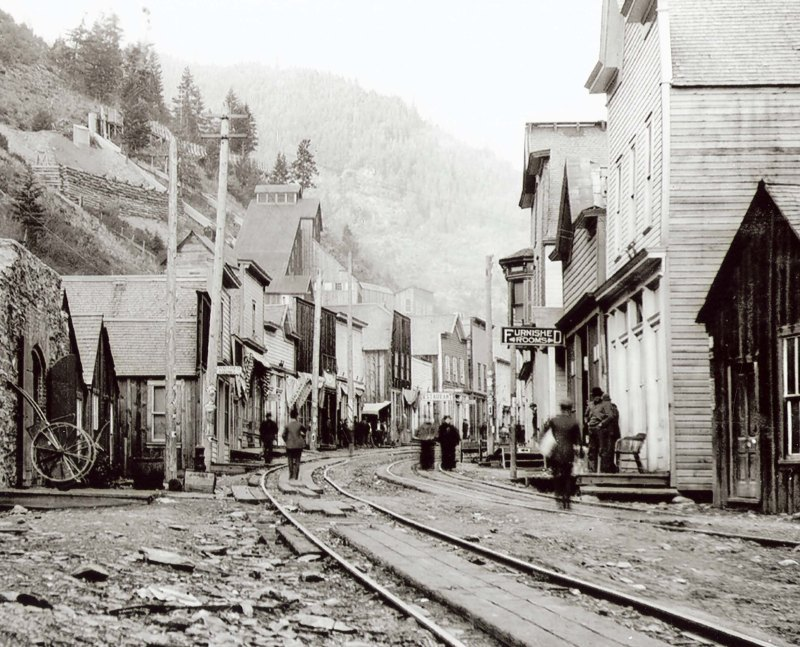 Downtown Burke in the 1920's