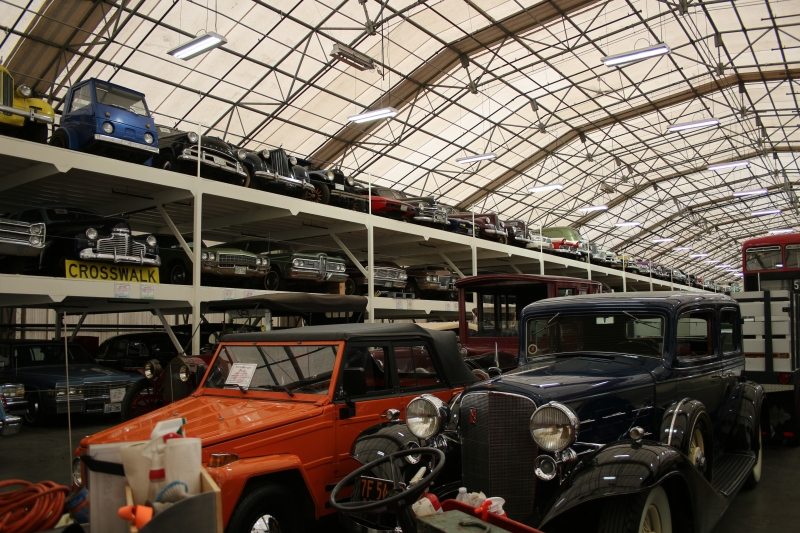 The White building houses mainly pre-WWII vehicles. And an impressive 3-level rack of cars that we didn't even have time to peruse.