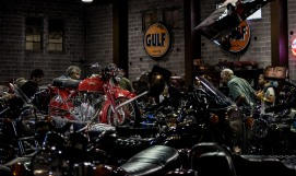 Vintage motorcycle show at the Lamay Family Museum in Tacoma Washington