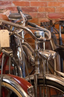Vintage bicycles in an antique store in Oakland Oregon