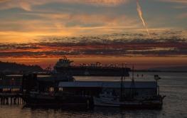 Sunset in Port Angeles, Washington