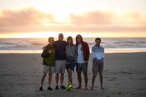 Mike, Dave, Kevin, Jake & Sam at Rockaway Beach